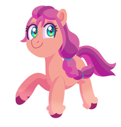 Size: 542x567 | Tagged: safe, artist:shootingstarthepony, sunny starscout, earth pony, pony, braid, female, g5, looking at you, mare, simple background, smiling, solo, transparent background, unshorn fetlocks