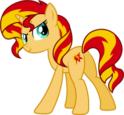 Size: 2536x2365 | Tagged: safe, artist:90sigma, sunset shimmer, pony, unicorn, equestria girls, equestria girls (movie), butt, female, mare, plot, simple background, solo, transparent background, vector