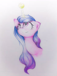 Size: 2676x3568 | Tagged: safe, artist:papersurgery, izzy moonbow, unicorn, g5, solo, traditional art