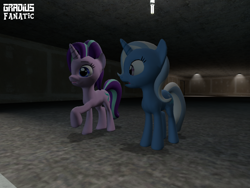 Size: 2048x1536 | Tagged: safe, artist:gradiusfanatic, starlight glimmer, trixie, unicorn, 3d, female, gmod