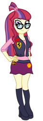 Size: 614x1705 | Tagged: safe, artist:gmaplay, moondancer, equestria girls, equestria girls-ified, ferrari, formula 1, racing, simple background, solo, transparent background