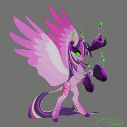 Size: 2000x2000 | Tagged: safe, artist:creeate97, twilight sparkle, alicorn, dark magic, magic, solo, twilight sparkle (alicorn)