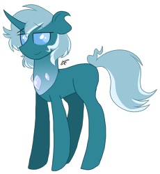 Size: 1436x1559 | Tagged: safe, artist:gallantserver, oc, oc:spiracle, changepony, hybrid, interspecies offspring, offspring, parent:pharynx, parent:trixie, parents:phartrix, simple background, solo, transparent background