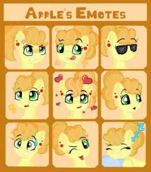 Size: 1280x1458 | Tagged: safe, artist:appleneedle, discord, oc, oc:apple needle, earth pony, pony, art, character, digital, draw, drawing, emojis, emotes, emotions, fanart, server
