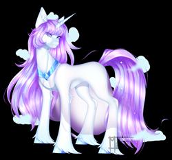 Size: 3244x3024 | Tagged: safe, artist:minelvi, oc, oc only, pony, unicorn, hoof fluff, hoof polish, horn, looking back, peytral, signature, simple background, solo, transparent background, unicorn oc