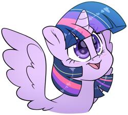 Size: 2032x1828 | Tagged: safe, artist:fluffyxai, twilight sparkle, alicorn, cute, smiling, twiabetes, wings