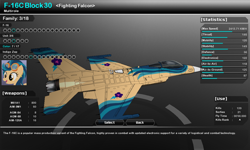 Size: 1280x768 | Tagged: safe, artist:lonewolf3878, indigo zap, pony, aircraft, f-16, f-16 fighting falcon, game screencap, skins, vector thrust, video game