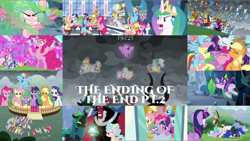 Size: 1978x1114 | Tagged: safe, edit, edited screencap, editor:quoterific, screencap, aloe, amarant, amber grain, amethyst star, apple bloom, applejack, arista, auburn vision, ballista, barry, beachcomber (g4), berry blend, berry bliss, berry punch, berry sweet, berryshine, big macintosh, billy (dragon), blaze, carrot cake, chancellor neighsay, cheerilee, clump, coral currents, cozy glow, cup cake, daisy, diamond tiara, doctor whooves, donut joe, double diamond, filthy rich, firelight, fizzlepop berrytwist, flam, flash magnus, fleetfoot, flim, flower wishes, fluttershy, frenulum (character), fuchsia frost, fume, gabby, galena, gallus, garble, gilda, gimme moore, giselle, grampa gruff, granny smith, greta, gretchen, high tide (g4), high winds, irma, laguna, lemon hearts, lightning streak, lilac swoop, lily, lily valley, loganberry, lord tirek, lotus blossom, lyra heartstrings, maud pie, meadowbrook, minuette, mistmane, moondancer, mudbriar, natalya, night light, night view, ocellus, octavia melody, party favor, peppe ronnie, pharynx, pinkie pie, pipsqueak, pound cake, prince rutherford, princess celestia, princess ember, princess luna, prominence, pumpkin cake, queen chrysalis, rain shine, rainbow dash, rarity, rex (dragon), rockhoof, roseluck, sandbar, scalio, seaspray, silver lining, silver spoon, silver zoom, silverstream, sky beak, slate sentiments, smolder, snake (dragon), soarin', somnambula, sparkler, spear (dragon), spike, spiracle, spitfire, spoiled rich, star swirl the bearded, starlight glimmer, stellar flare, sugar belle, sugar stix, sunburst, surprise, tempest shadow, tender brush, terramar, thod, thorax, time turner, trixie, twilight sparkle, twilight velvet, vex, viverno, wind waker (character), winter lotus, yona, alicorn, centaur, changedling, changeling, changeling queen, dragon, earth pony, griffon, hippogriff, pegasus, pony, unicorn, yak, the ending of the end, angry, applejack's hat, armor, bell, bipedal, bowing, chaos pinkie, cowboy hat, dragone