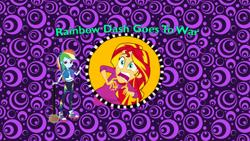 Size: 1280x720 | Tagged: safe, artist:ddart2019, rainbow dash, sunset shimmer, equestria girls, rainbow rocks, arthur