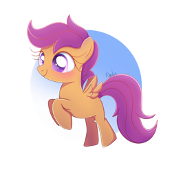 Size: 1024x1024   Tagged: safe, artist:nnaly, scootaloo, pegasus, pony, blank flank, cute, cutealoo, female, filly, flying, rearing, scootaloo can fly, solo