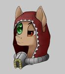 Size: 2400x2712 | Tagged: safe, artist:kviksi, cyborg, pony, mechanicus, warhammer (game), warhammer 40k