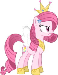 Size: 1439x1878   Tagged: safe, alternate version, artist:muhammad yunus, oc, oc only, oc:annisa trihapsari, earth pony, pony, series:the return of annisa, base used, earth pony oc, female, mare, not rarity, pink body, pink hair, princess, simple background, solo, transparent background, vector