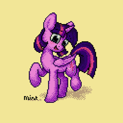 Size: 512x512 | Tagged: safe, twilight sparkle, alicorn, pony, female, mare, pixel art, simple background, solo, twilight sparkle (alicorn)