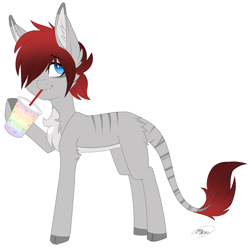 Size: 1706x1685 | Tagged: safe, artist:melodytheartpony, oc, earth pony, hybrid, cute, emo, feral, fluffy, male, that gay shit