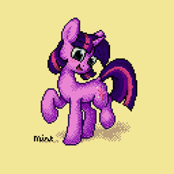 Size: 512x512 | Tagged: safe, twilight sparkle, pony, unicorn, female, mare, pixel art, simple background, solo, unicorn twilight