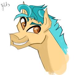 Size: 2334x2256 | Tagged: safe, hitch trailblazer, earth pony, pony, g5, male, smiling