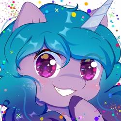 Size: 4000x4000   Tagged: safe, artist:chibi95, izzy moonbow, sunny flare, alicorn, earth pony, pegasus, pony, unicorn, bronycon, spoiler:g5, brony, bronybait, chibi, cute, cute art, digital art, fanart, furries, furry, g5, ibispaint x, kemono, mlpg5, mlpgdraws, pegasister, solo, sunny