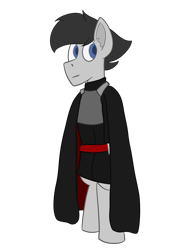 Size: 1000x1300 | Tagged: safe, artist:derpy_the_duck, oc, oc:kylo, earth pony, armor, cape, clothes, simple background, solo, transparent background