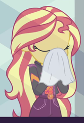 Size: 642x939   Tagged: safe, screencap, sunset shimmer, equestria girls, equestria girls series, sunset's backstage pass!, spoiler:eqg series (season 2), cropped, eyes closed, geode of empathy, magical geodes, solo