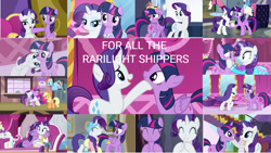 Size: 1280x720   Tagged: safe, edit, edited screencap, editor:quoterific, screencap, applejack, opalescence, pinkie pie, rainbow dash, rarity, twilight sparkle, alicorn, cat, earth pony, pegasus, pony, unicorn, dragon dropped, equestria girls, equestria girls (movie), friendship university, gauntlet of fire, it isn't the mane thing about you, rarity's biggest fan, simple ways, the crystal empire, the saddle row review, the ticket master, three's a crowd, what about discord?, spoiler:interseason shorts, alternate hairstyle, applejack's hat, big crown thingy, canterlot, carousel boutique, clothes, collage, cowboy hat, disguise, duo, duo female, element of magic, eyepatch, eyes closed, fainting couch, female, food, gritted teeth, hat, holding hooves, hoof on chin, hooves on cheeks, hug, ice cream, jewelry, looking up, mare in the moon, moon, open mouth, plainity, rarilight, rarity for you, regalia, robe, school of friendship, shipping, shocked, sitting, teeth, train station, twilight sparkle (alicorn), twilight's castle, unicorn twilight, walking