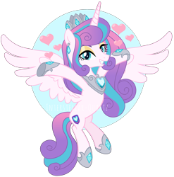 Size: 2512x2544 | Tagged: safe, artist:interstellar-quartz, princess flurry heart, pony, older, solo