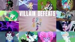 Size: 1280x721 | Tagged: safe, edit, edited screencap, editor:quoterific, screencap, applejack, cozy glow, fluttershy, gaea everfree, grubber, king sombra, kiwi lollipop, lord tirek, mean twilight sparkle, pinkie pie, principal abacus cinch, queen chrysalis, rainbow dash, rarity, squabble, storm king, tantabus, tree of harmony, twilight sparkle, vignette valencia, wallflower blush, alicorn, centaur, changeling, changeling queen, earth pony, parrot pirates, pegasus, pony, unicorn, do princesses dream of magic sheep, equestria girls, equestria girls series, forgotten friendship, friendship games, legend of everfree, my little pony: the movie, rollercoaster of friendship, sunset's backstage pass!, the ending of the end, the mean 6, the return of harmony, spoiler:eqg series (season 2), angry, antagonist, cellphone, compilation, crying, defeat, element of generosity, element of honesty, element of kindness, element of laughter, element of loyalty, element of magic, elements of harmony, female, filly, glowing eyes, gritted teeth, hooves on cheeks, looking down, male, mane six, open mouth, phone, pirate, smartphone, stone, tears of anger, teeth, the elements in action, turned to stone, twilight sparkle (alicorn), unicorn twilight, wall of tags