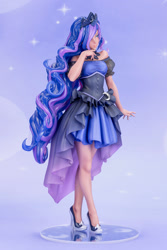 Size: 667x1000 | Tagged: safe, kotobukiya, princess luna, human, anime, breasts, clothes, dress, gown, high heels, humanized, kotobukiya princess luna, shoes, solo, stiletto heels