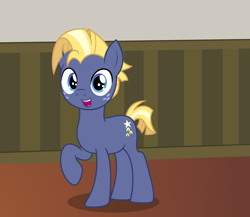 Size: 2488x2164 | Tagged: safe, artist:badumsquish, derpibooru exclusive, part of a set, star tracker, pony, unicorn, once upon a zeppelin, cute, freckles, grin, happy, looking at you, male, open mouth, pose, raised hoof, show accurate, smiling, solo, stallion, trackerbetes