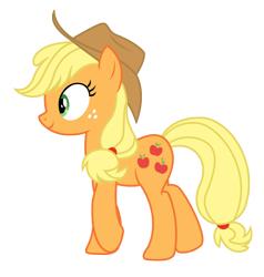 Size: 2554x2682   Tagged: safe, artist:three uncle, applejack, earth pony, pony, sounds of silence, applejack's hat, butt, cowboy hat, female, hat, mare, plot, simple background, transparent background