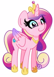 Size: 1516x2179 | Tagged: safe, artist:kindakismet, princess cadance, alicorn, pony, cute, cutedance, female, looking at you, mare, simple background, solo, white background