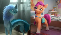 Size: 2684x1520 | Tagged: safe, screencap, sunny starscout, earth pony, pony, g5 movie, spoiler:g5, spoiler:g5 movie, disney, female, g5, hasbro, op isn't even trying anymore, raya and the last dragon