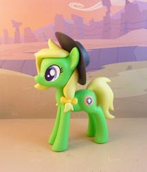 Size: 815x950   Tagged: safe, artist:krowzivitch, oc, oc:palmetto pret, earth pony, pony, female, figurine, hat, irl, mare, photo, solo