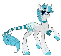 Size: 999x911 | Tagged: safe, alternate version, artist:moshi.poni, oc, oc only, pony, unicorn, background removed, choker, colored, colored hooves, eyelashes, female, horn, leonine tail, mare, signature, simple background, smiling, solo, unicorn oc, white background