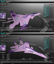 Size: 1270x1518 | Tagged: safe, artist:lonewolf3878, starlight glimmer, unicorn, aircraft, equal cutie mark, evil grin, evil starlight, fighter, game screencap, grin, jet fighter, skins, smiling, su-37, vector thrust