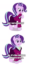 Size: 675x1540 | Tagged: safe, artist:dstears, starlight glimmer, pony, unicorn, the last problem, female, mare, older, older starlight glimmer, seymour skinner, solo, the simpsons, thinking