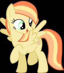 Size: 2285x2625 | Tagged: safe, artist:pegasski, oc, oc only, pegasus, pony, base used, eyelashes, female, looking back, mare, pegasus oc, raised hoof, simple background, smiling, solo, transparent background, wings