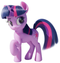 Size: 965x1000 | Tagged: safe, artist:therealdjthed, twilight sparkle, pony, unicorn, 3d, blender, cute, female, mare, raised hoof, simple background, solo, transparent background, twiabetes, unicorn twilight