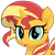 Size: 3000x3025   Tagged: safe, artist:keronianniroro, sunset shimmer, pony, unicorn, :p, cute, female, high res, inkscape, mare, movie accurate, shimmerbetes, simple background, solo, tongue out, transparent background, vector