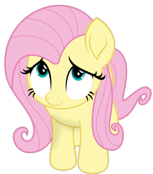Size: 2000x2281   Tagged: safe, artist:keronianniroro, fluttershy, pegasus, pony, my little pony: the movie, cute, female, high res, looking up, mare, shyabetes, simple background, solo, transparent background, vector