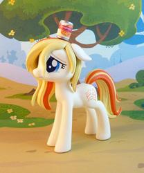 Size: 791x950   Tagged: safe, artist:krowzivitch, oc, oc:upsetti spaghetti, earth pony, pony, can, female, figurine, floppy ears, irl, mare, photo, sad, solo