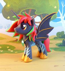 Size: 868x950   Tagged: safe, artist:krowzivitch, oc, oc:chaos gun, alicorn, pony, figurine, irl, male, photo, solo, stallion