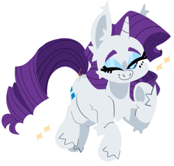 Size: 891x853 | Tagged: safe, artist:fizzlefer, rarity, pony, unicorn, cute, ear fluff, female, leg fluff, mare, one eye closed, raribetes, simple background, solo, transparent background, wink