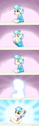 Size: 760x2440 | Tagged: safe, artist:vinilyart, coco pommel, earth pony, bed mane, clothes, cocobetes, coffee, coffee mug, cute, drinking, female, mare, messy mane, morning, morning ponies, mug, robe, solo