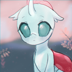 Size: 1000x1000   Tagged: safe, artist:choyamy, ocellus, changedling, changeling, blushing, cute, diaocelles, eyebrows, eyelashes, female, looking at you, png, solo, weapons-grade cute