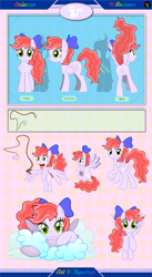 Size: 6751x12301 | Tagged: safe, artist:kyoshyu, oc, oc:arianna, pegasus, pony, absurd resolution, bow, butt, cloud, female, hair bow, mare, plot, reference sheet, solo, whip