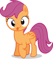 Size: 3000x3310   Tagged: safe, artist:frownfactory, scootaloo, pegasus, lesson zero, :p, bleh, cute, cutealoo, derp, female, filly, silly, simple background, solo, tongue out, transparent background, vector