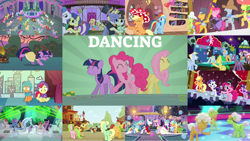 Size: 1280x721   Tagged: safe, edit, edited screencap, editor:quoterific, screencap, apple bloom, apple fritter, apple honey, apple tarty, applejack, auburn vision, auntie applesauce, berry blend, berry bliss, bifröst, braeburn, bruce mane, caesar, candy apples, caramel, citrine spark, clever musings, coloratura, count caesar, disco fever, dusty swift, fat stacks, fiery fricket, fine line, fire flicker, fire quacker, fluttershy, fuchsia frost, gallus, golden crust, golden delicious, goldie delicious, goldy wings, granny smith, half baked apple, home stretch, lightning riff, lilac swoop, limelight, lucky clover, lyrica lilac, masquerade, maxie, midnight snack (character), new wave (character), night view, november rain, ocarina green, ocellus, orion, pacifica, peachy sweet, peppermint goldylinks, pinkie pie, ponet, princess cadance, rainbow dash, rarity, red gala, royal ribbon, sandbar, shining armor, shooting star (character), silver spoon, silverstream, smolder, smooth move, spectrum shades, sprout greenhoof, star gazer, strawberry scoop, summer breeze, tender taps, tune-up, turbo bass, twilight sparkle, twinkleshine, violet twirl, wintergreen, yona, alicorn, changeling, earth pony, pegasus, pony, unicorn, yak, a canterlot wedding, apple family reunion, daring don't, grannies gone wild, on your marks, over a barrel, party of one, pinkie pride, season 1, season 2, season 3, season 4, season 6, season 8, she's all yak, simple ways, sweet and elite, the mane attraction, viva las pegasus, ^^, apple family member, bipedal, cute, dancing, dashabetes, diapinkes, eyes closed, female, friendship student, golden oaks library, jackabetes, las pegasus resident, love is in bloom, make a wish, male, mane six, mare, microphone, microphone stand, open mouth, raise this barn, shining adorable, shyabetes, smiling, stallion, student six, sweet apple acres, the spectacle, town hall, twiabetes, twilight sparkle (alicorn), unicorn twilight, wall of tags