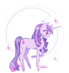Size: 682x724   Tagged: safe, artist:costly, twilight sparkle, pony, unicorn, cute, female, mare, no pupils, profile, solo, twiabetes, unicorn twilight