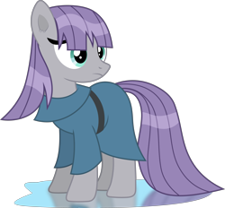 Size: 4317x4000 | Tagged: safe, artist:frownfactory, maud pie, earth pony, pony, maud pie (episode), clothes, female, mare, simple background, solo, transparent background, vector, wet, wet mane, wet mane maud pie