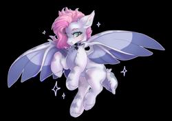 Size: 2200x1548   Tagged: safe, artist:shady-bush, oc, bat pony, pony, female, mare, simple background, solo, transparent background